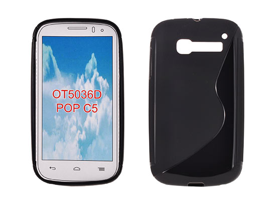 Silicone S-Line Alcatel C5 black