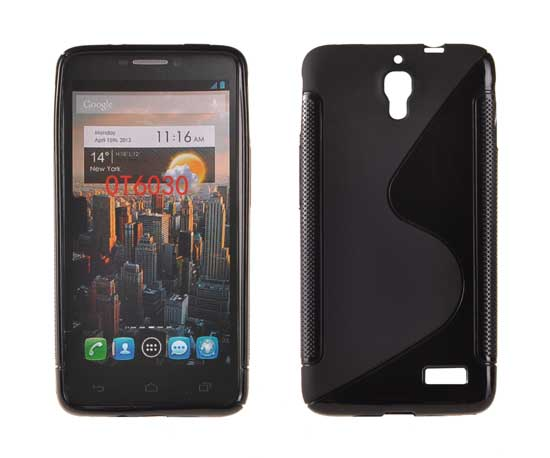 Silicone S-Line Alcatel One Touch Idol/6030 black