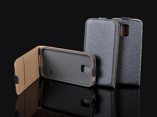 Slim Flip Case Samsung Galaxy Alpha/G850 grey