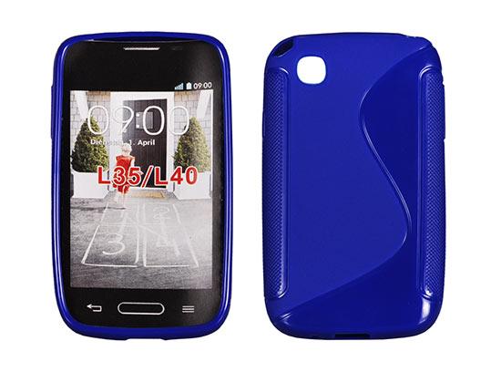 Silicone S-Line LG L40 blue