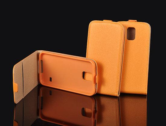 Slim Flip Case Samsung Galaxy S5 Mini/SM-G800F orange