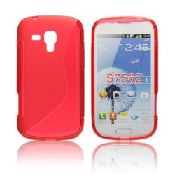 Samsung S7562 Galaxy S Duos S-Line Silicone red