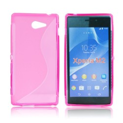 Silicone S-Line Sony Xperia M2 pink