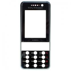 Sony Ericsson K660 Front Cover wine on black ORIGINAL
