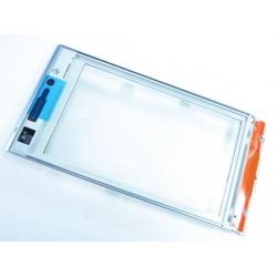Sony Ericsson Satio FrontCover silver ORIGINAL