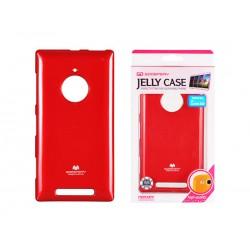 Jelly Silicone Lumia 830 red