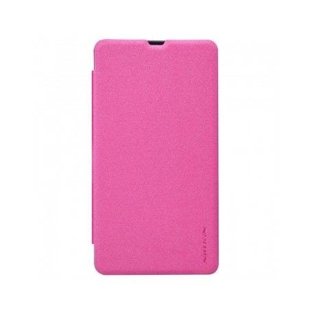 Microsoft Lumia 435 Nillkin Sparkle Folio Case pink
