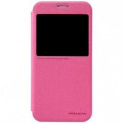 Samsung Galaxy S6 Nillkin Sparkle S-View Case pink