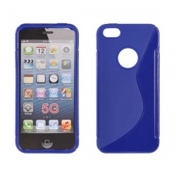 iPhone 5S/5 Silicone S-Line blue
