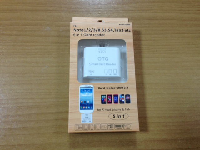Card Reader+USB 2.0 5in1 OTG for SmartPhone+Tab