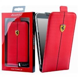 Samsung Galaxy S5 G900 FEFOCFLS5RE Ferrari Carbon Flip Case Red