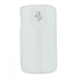 Samsung i9500/i9505 Galaxy S4 FEMTFLBKS4WH Ferrari Monte Carlo Leather Case white