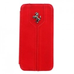 Samsung i9190 Galaxy S4 Mini FEMTFLBKS4MRE Ferrari Monte Carlo Leather Case red