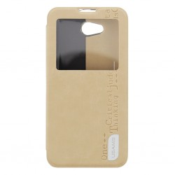 LG L90 Usams Merry Book Preview Case gold