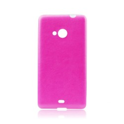 Samsung Galaxy G388 Jelly Leather 0,3mm Silicone Pink