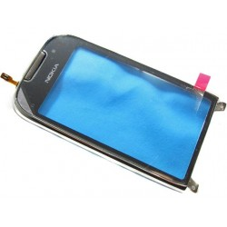 Nokia C7 Touch Screen+FrontCover frosty metal HQ