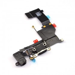 iPhone 5S Dock Connector+Microfone+Audio Connector black ORIGINAL