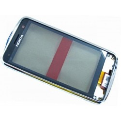 Nokia C6-01 FrontCover+Touch Screen silver HQ