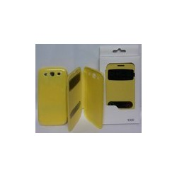 Book Window Case Samsung i8190 Galaxy S3 Mini yellow