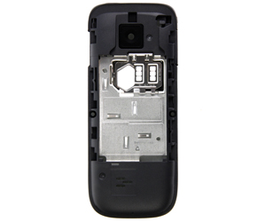 Nokia C2-01 MiddleCover black ORIGINAL