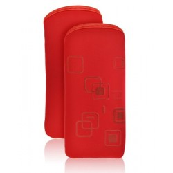 Chic Pouch iPhone 4S/4 red