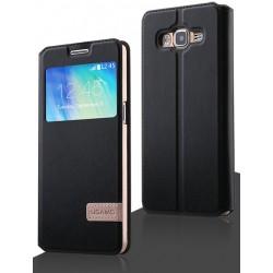 Samsung Galaxy A3 Usams Muge S-View Case Black