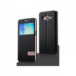 Samsung Galaxy J1 2016 Usams Muge S-View Case Black