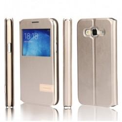 Samsung Galaxy J1 2016 Usams Muge S-View Case Gold