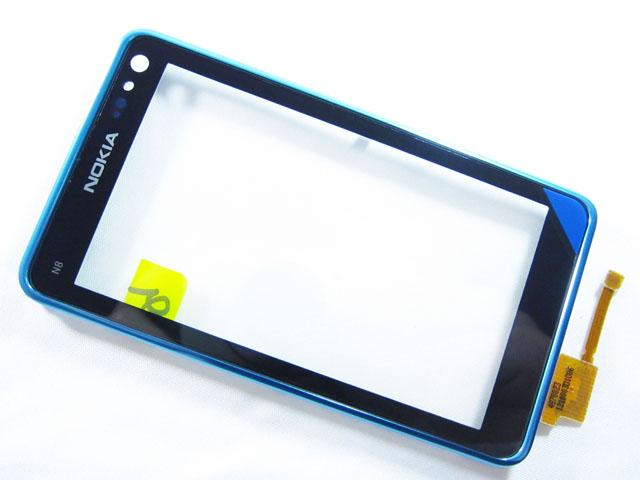 Nokia N8-00 FrontCover+Touch Screen blue ORIGINAL