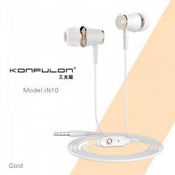 Konfulon H/F Stereo 3.5mm white gold