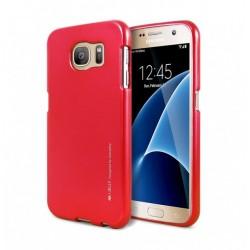 Samsung Galaxy S6 Edge Mercury i-Jelly Silicone red