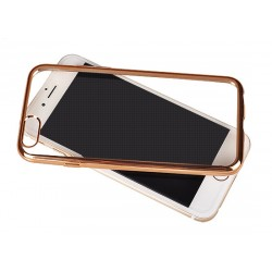 Samsung Galaxy S7 Edge Clear Silicone Gold