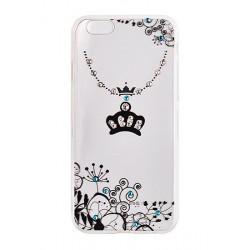 Samsung Galaxy S8 Vennus Art Tpu Case D4 Crown White