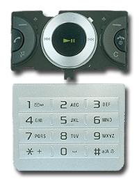 Sony Ericsson W205 Keypad Set silver OEM