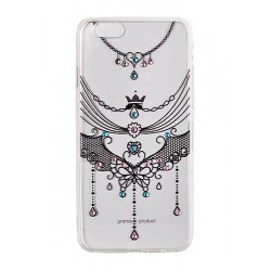 iPhone 7 Vennus Art Silicone D1 Neckles black