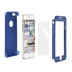 iPhone 5S/5/SE 360Full Body Case+Tempered Glass Blue