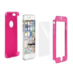 iPhone 5S/5/SE 360Full Body Case+Tempered Glass Pink