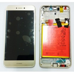 Huawei P8 Lite 2017/P9 Lite 2017 Lcd+Touch Screen+Frame+Battery Gold ORIGINAL