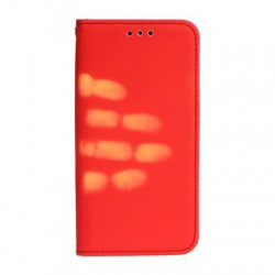 Apple iPhone 8 Plus/iPhone 7 Thermo Book Case Red
