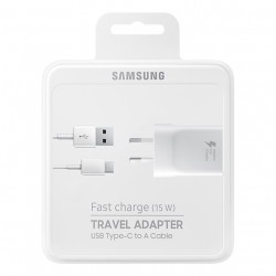 Samsung EP-TA20EWE Travel Charger+ EP-DN930CWE Type C Data Cable white Blister