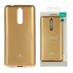 Nokia 8 Mercury Jelly Silicone Gold
