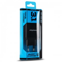 iMyMax S2 Travel Adapter 2Usb 3.1A Fast Charging black