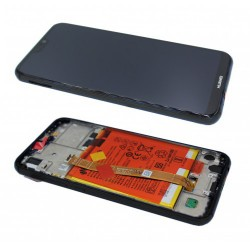 Huawei P20 Lite Lcd+Touch Screen+Frame+Battery Black ORIGINAL