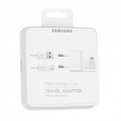 Samsung EP-TA20EWE Fast Travel Charger+ECB-DU4EWE Data Cable MicroUsb White Blister