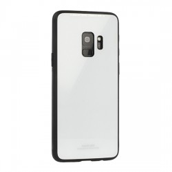 Huawei Y6 2018 Glass Case Silicone White