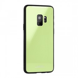 Huawei Y6 2018 Glass Case Silicone Lime