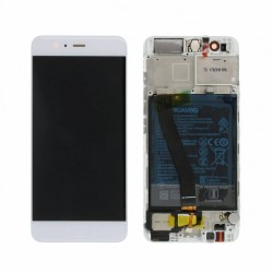 Huawei P10 Lcd+Touch Screen+Frame+Battery White/Gold ORIGINAL