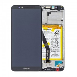 Huawei Y6 2018 Lcd+Touch Screen+Frame+Battery Black ORIGINAL (Service Pack)
