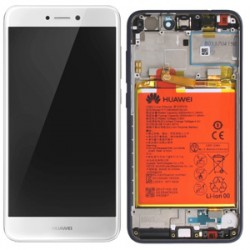 Huawei P8 Lite 2017/P9 Lite 2017 Lcd+Touch Screen+Frame+Battery White ORIGINAL
