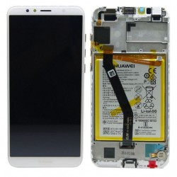Huawei Y6 2018 Lcd+Touch Screen+Frame+Battery White ORIGINAL (Service Pack)